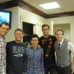 Hanging with David Archuleta in the dressing room before the show at A.A. Kids Day